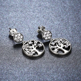 Tree of Life Round Earrings (Genuine 925 Sterling Silver) - Love Touch Jewelry