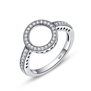 Elegant Radiant Circle Ring (Genuine 925 Sterling Silver) - Love Touch Jewelry