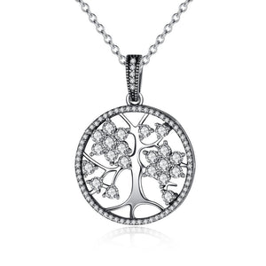 Tree of Life Round Pendant Necklaces (Genuine 925 Sterling Silver) - Love Touch Jewelry