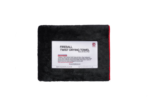 Fireball Black Fox Twist Drying Towel (70x90cm) - Driven Car Care