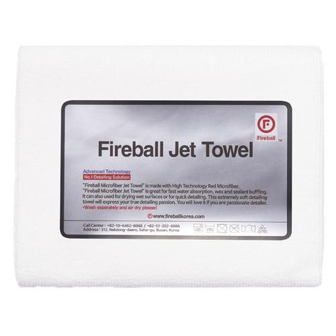 Fireball Jet Towel White (60x42cm) - Driven Car Care