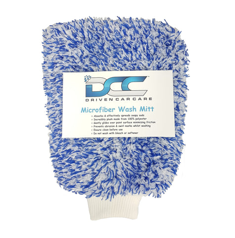 DCC Plush Microfiber Wash Mitt Glove - Driven Car Care