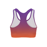 Orange Dots Sports Bra