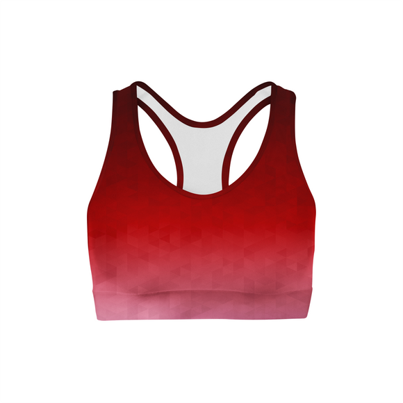 Crimson Triangles Sports Bra