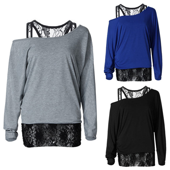 NEW Womens Fashion Lace Long Sleeve