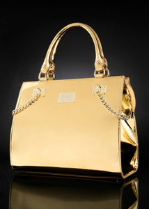 LUXURY VEGAN HANDBAG - GOLD