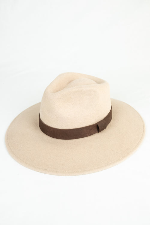 Bandido Wide Brim Wool Hat Ivory