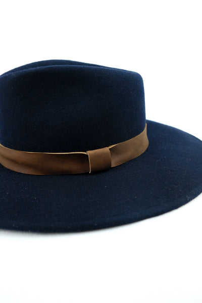 Bandido Wide Brim Wool Hat Navy