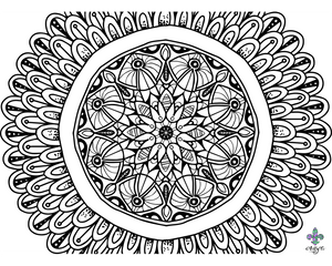 Black and White Mandala 1280x1024