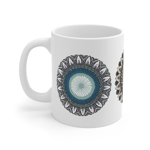 color mandala black mug 15 ounce coffee tea