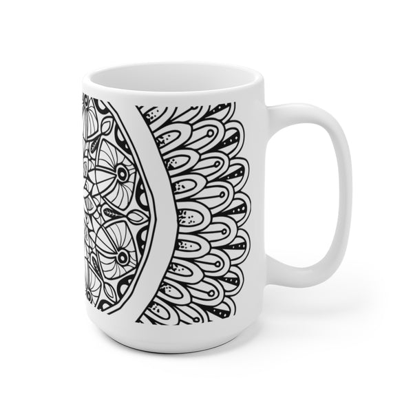 flower mandala mug coffee tea