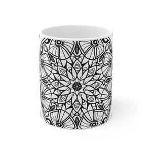 flower mandala mug 15 ounce coffee tea