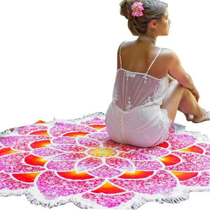 Summer Flower Mandala Tapestry