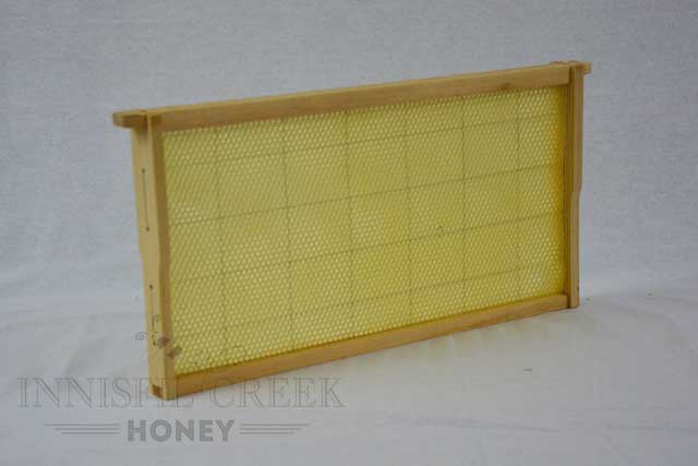 Beeswax Foundation & Wood Frame - Assembled - Deep