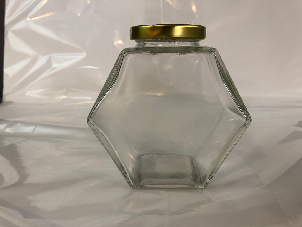 450 ml / 600 gram Hexagon Jar - Box of 40