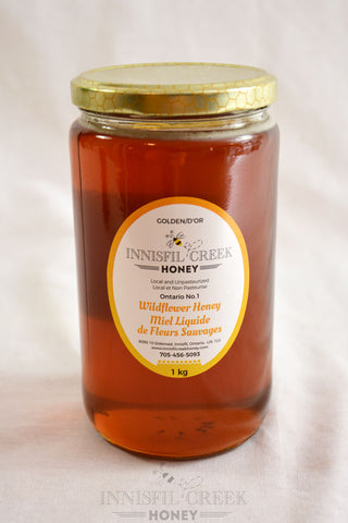 1 kg jar of local ontario wildflower Honey