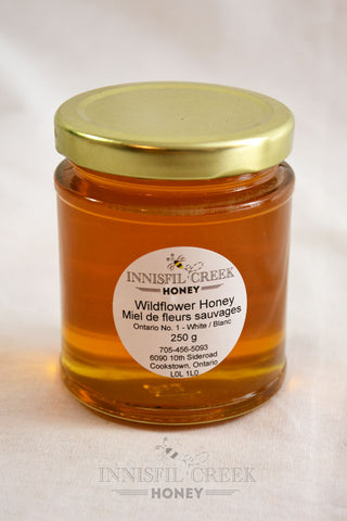 250 gram jar of local ontario wildflower Honey