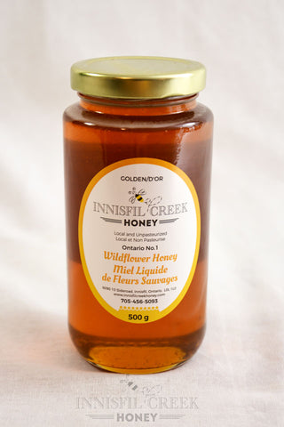 500 gram jar of local ontario wildflower Honey