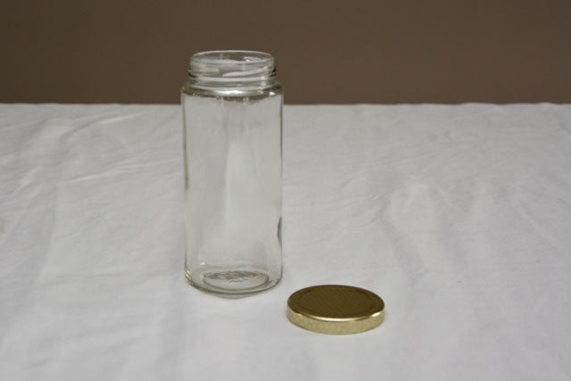 375 ml / 500 gram Tall Jar with Lid - Case of 12