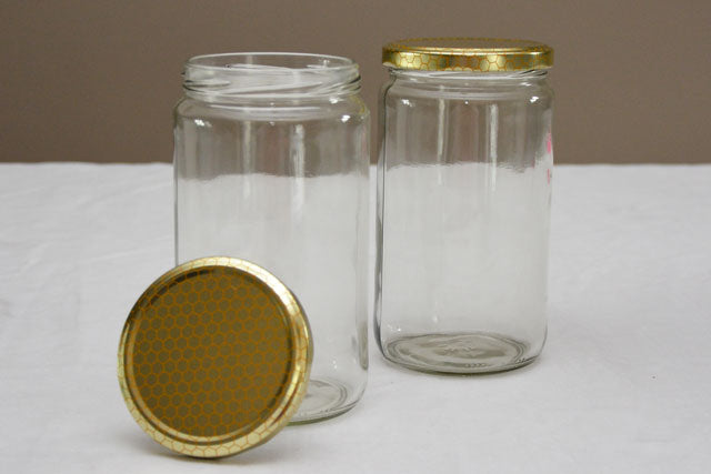 750 ml / 1 kilogram Tall Jar with Lid - Case of 12