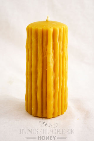Beeswax Candle Dribble Pillar Tall