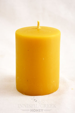 Beeswax Candle smooth Pillar small