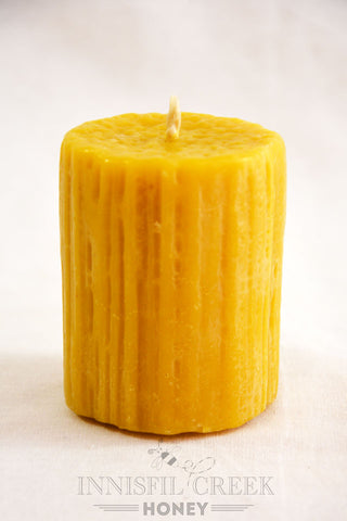 Beeswax Candle Dribble Pillar small