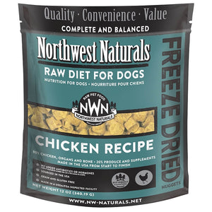 Northwest Naturals Freeze Dried Raw Diet Dog Food - Chicken Recipe 12oz - Enchanting Bolognese