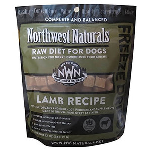 Northwest Naturals Freeze Dried Raw Diet Dog Food - Lamb Recipe 12oz - Enchanting Bolognese