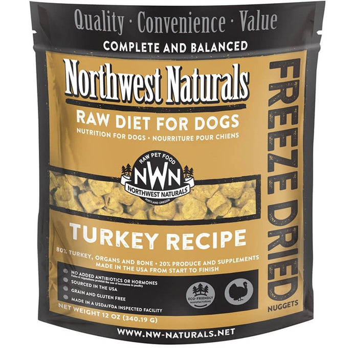 Northwest Naturals Freeze Dried Raw Diet Dog Food - Turkey Recipe 12oz. - Enchanting Bolognese