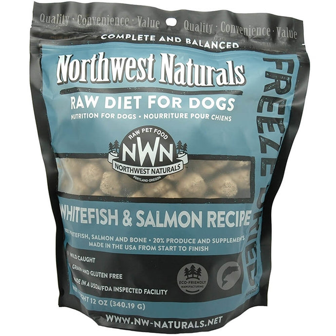 Northwest Naturals Freeze Dried Raw Diet Dog Food -Whitefish & Salmon Recipe 12oz - Enchanting Bolognese
