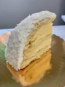 Coconut Cream Bombe Cake