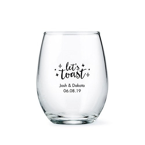 Small Personalized Stemless Wine Glass