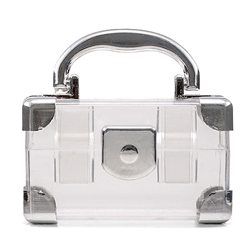 Mini Travel Suitcase Favor Box - Silver (Pkg. of 2)