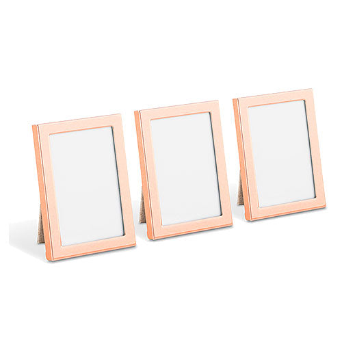 Mini Easel Back Photo Frame Set - Rose Gold (Set of 3)