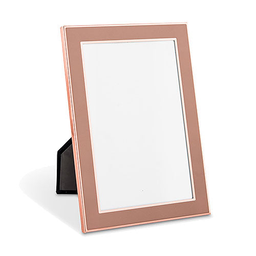 Medium Easel Back Photo Frame - Rose Gold