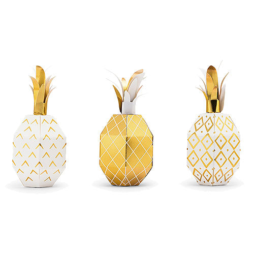 Tropical Pineapple Party Favor Boxes (Pkg. of 12)
