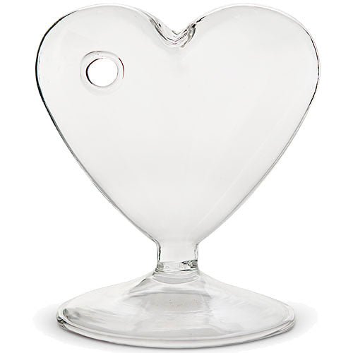 Small Clear Heart Shaped Vase (Pkg. of 4)
