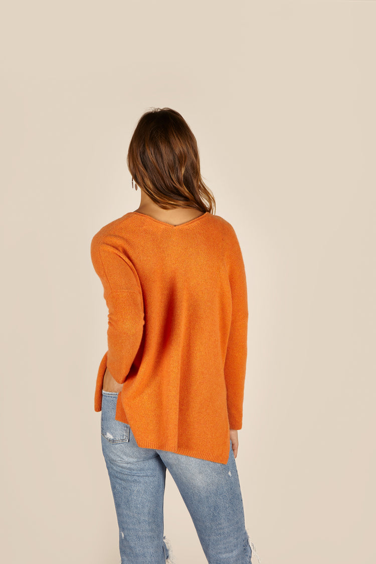 Vesper Cashmere <em>in burnt orange</em>