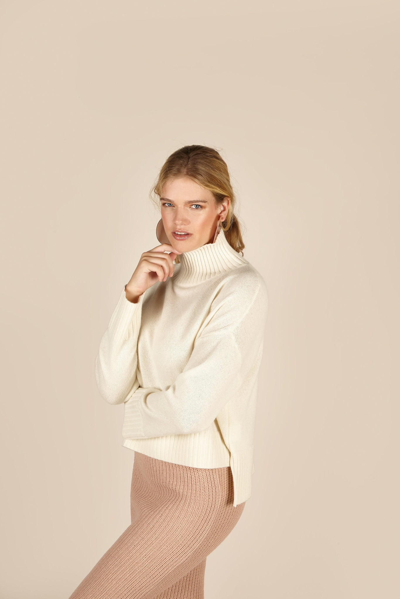 Riley Cashmere <em>in ivory</em>