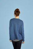 Womens Crew Neck Cashmere Jumper, Sweater in Blue
