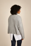Womens Roll Neck Cashmere Jumper, Turtleneck Sweater in Grey