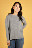Grey Womens Crew Neck Cashmere Jumper