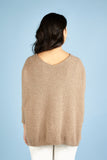 Womens V Neck Cashmere Jumper, Deep V Sweater in Camel, Beige, Sand