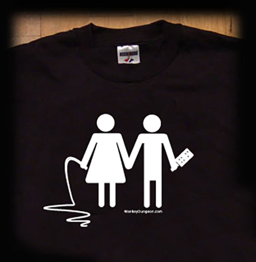 Bondage couple t shirt