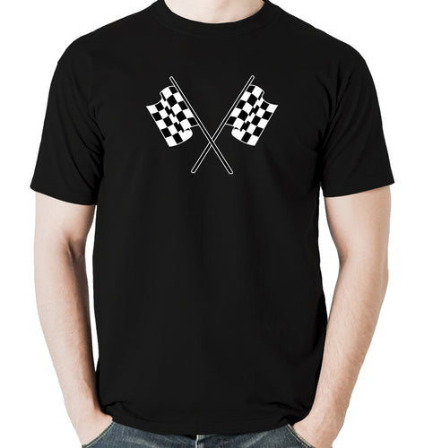 Checkered flag men's t shirt