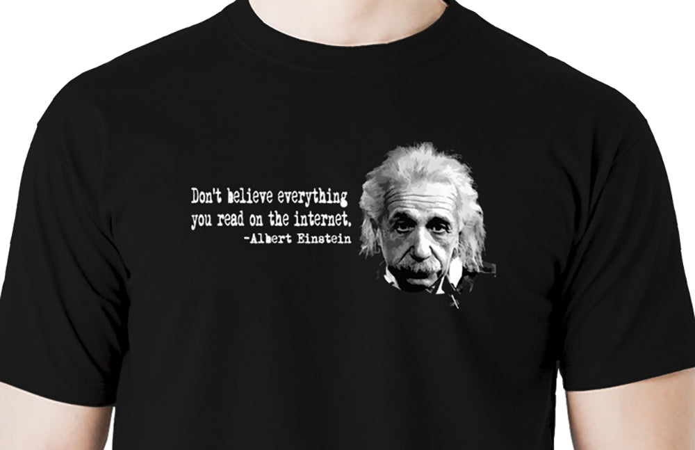 Einstein Internet Funny Quote Men's t shirt