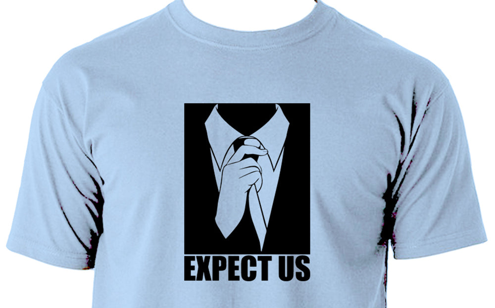 Expect us anonymous Men's t shirt