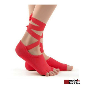 chaussette yoga rouge