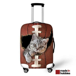 housse valise chat gris